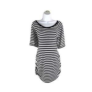 Motherhood Long Tunic Short Sleeve Striped T-Shirt